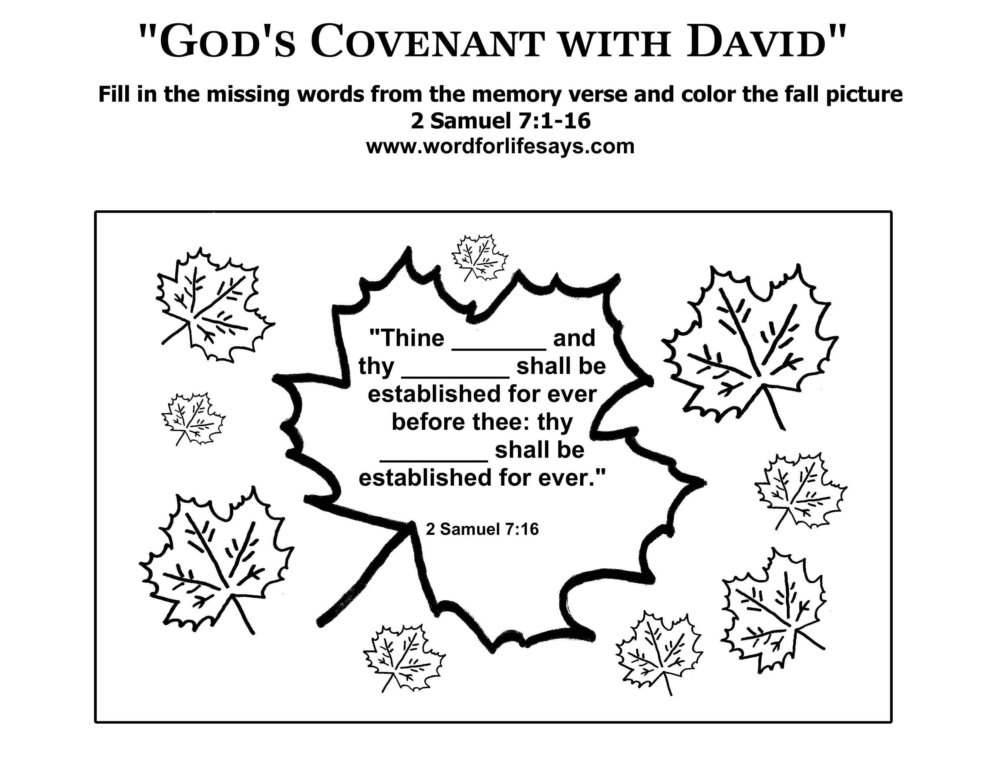 2 Samuel 7 Coloring Page
