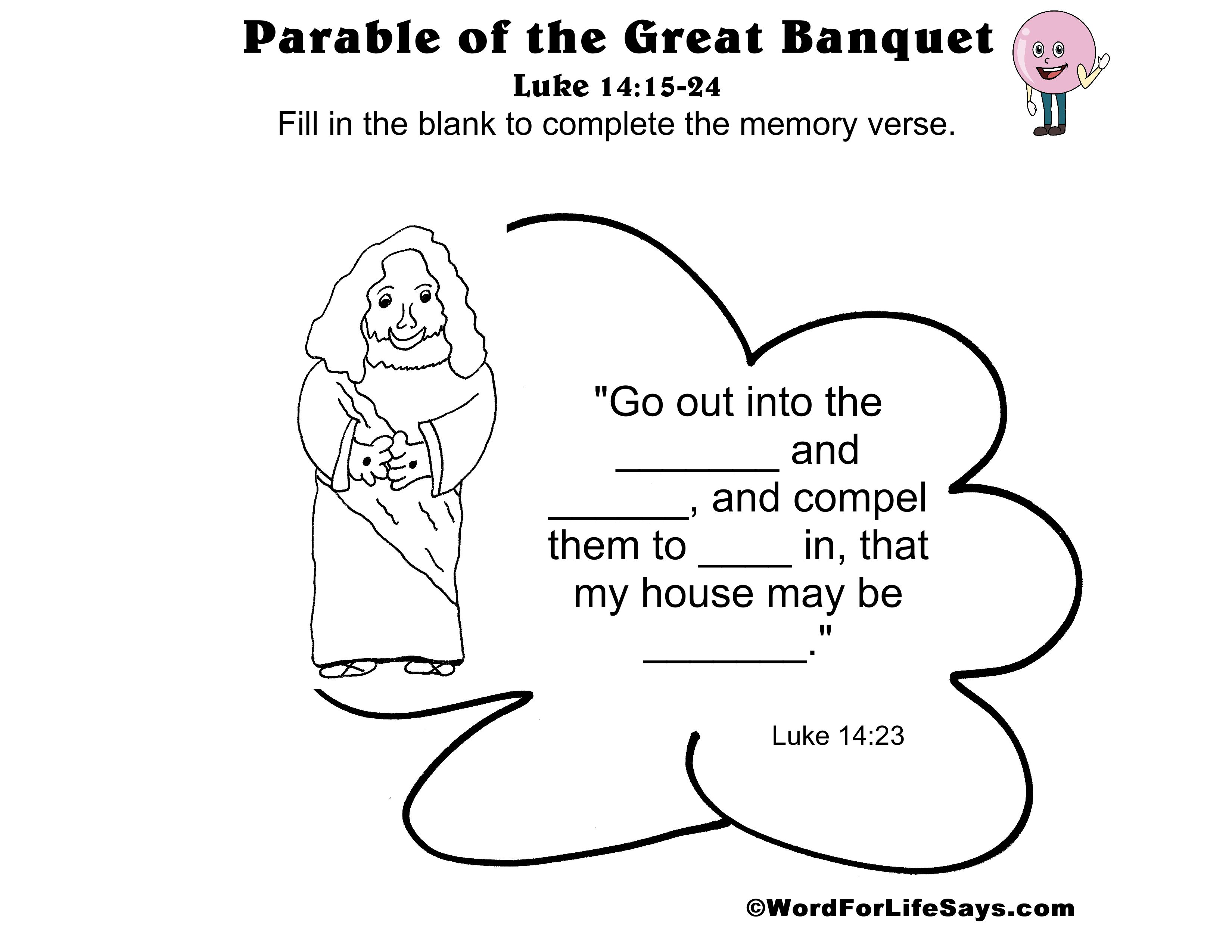 Sunday School Word For Life Says