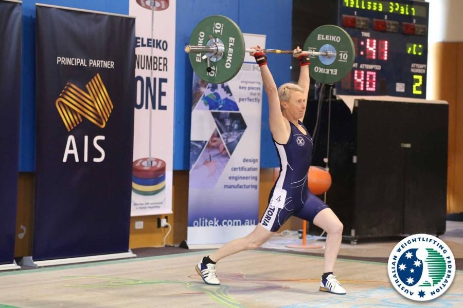 Mel weight lifting -snatch