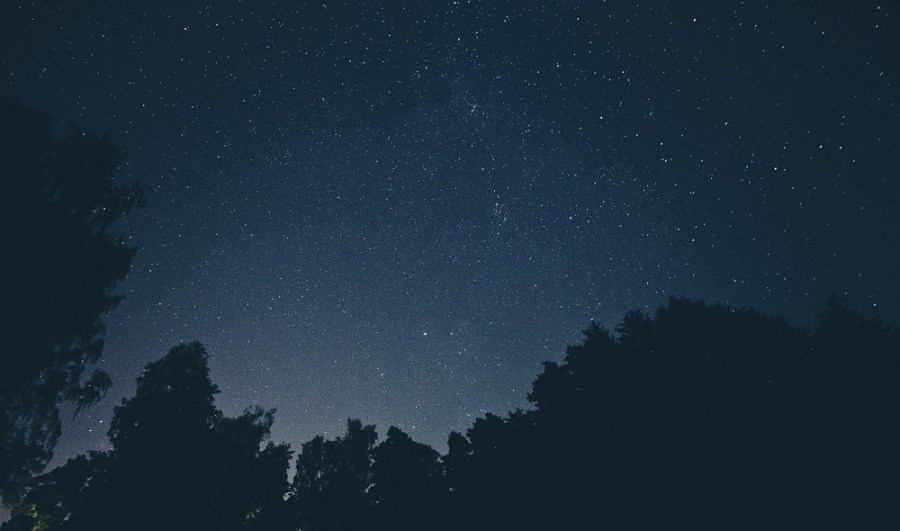 Night sky of stars