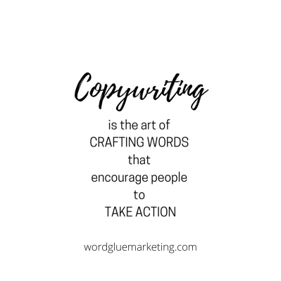 Copywriting is the art of crafting words