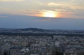 Beautiful sunset from the Eiffel Tower, which I missed because I was buying a bottle of water : (