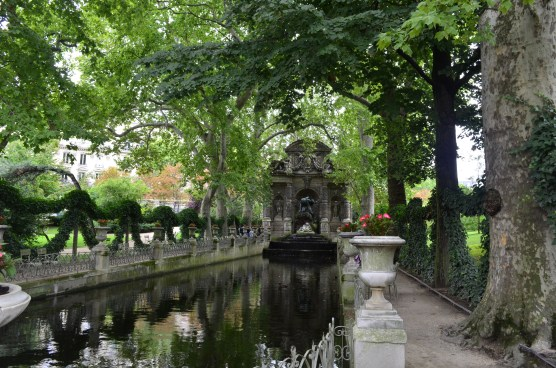 A quiet spot in the Luxembourg Gardens.