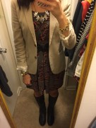 Fall essential items: J.Crew blazer & boots