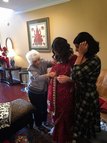 My grandmother, me, and Rashi, my future sister in law.
