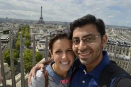 My favorite photo of us in Paris.