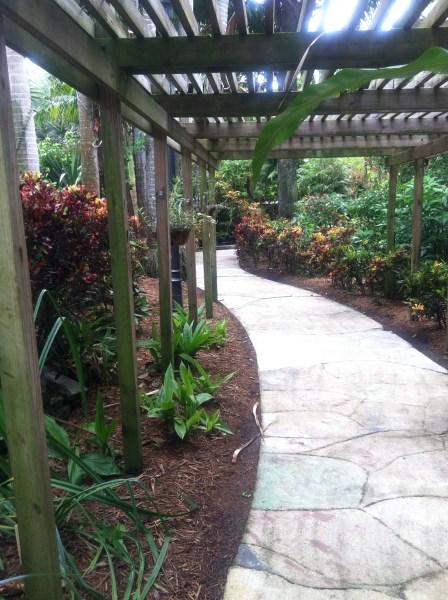 covered garden walkway Sunken Garden   Wordifull