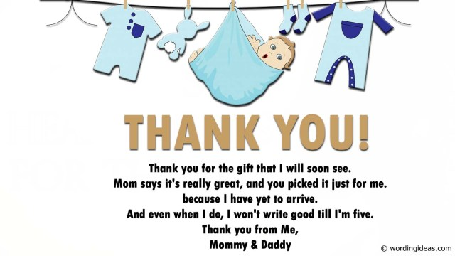 Baby Shower Thank You Wording: Tips, Ideas, and Examples » Wording