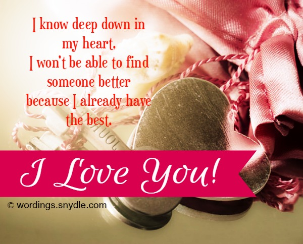 I Love You Messages And Quotes For Someone Special   Wordings and     I Love You Messages