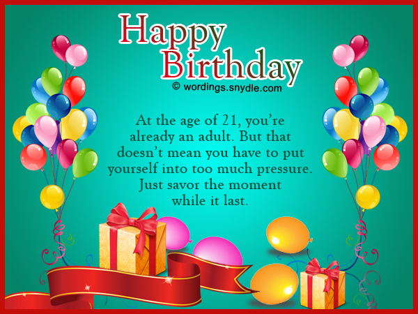 What To Write In A 21st Birthday Card For Sister – 21st Birthday Messages for Cards