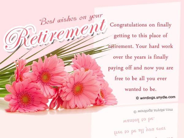 Wishes Retirement Cake Wording