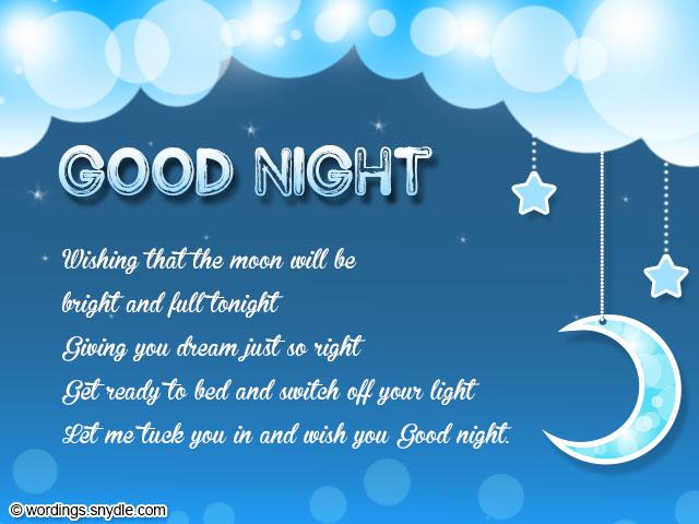 Goodnight Message Sweet Long