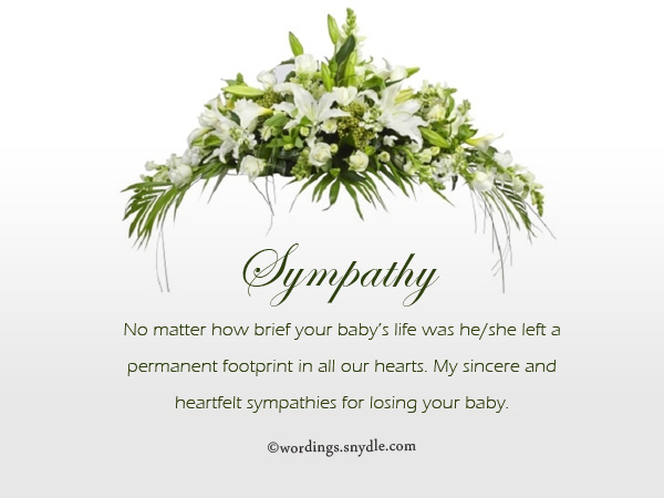 Sympathy Words Loss Baby