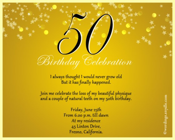 cute 50th birthday invitation wording - wedding invitation sample, Birthday invitations