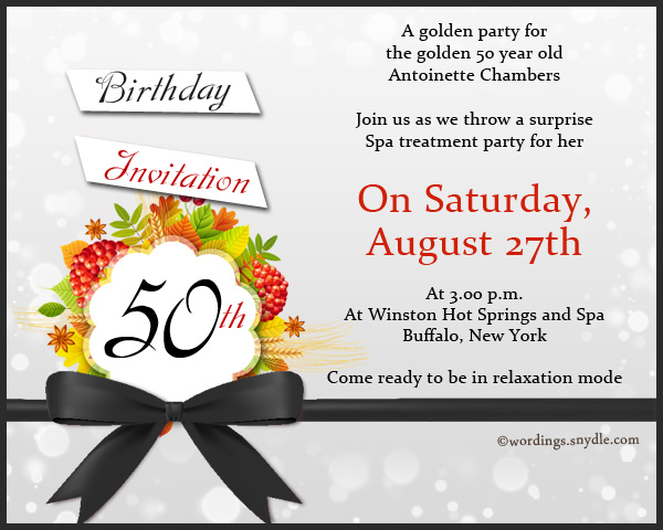 Invitation card for 50th birthday paperinvite 50th birthday invitation wording samples wordingessages filmwisefo Gallery