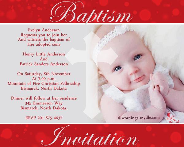 baptism invitation wording samples
