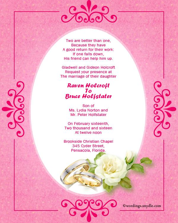 Wedding Invitation Wording Samples Wordings And