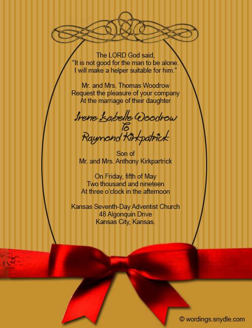 Wedding Invitation Wording Sles 03