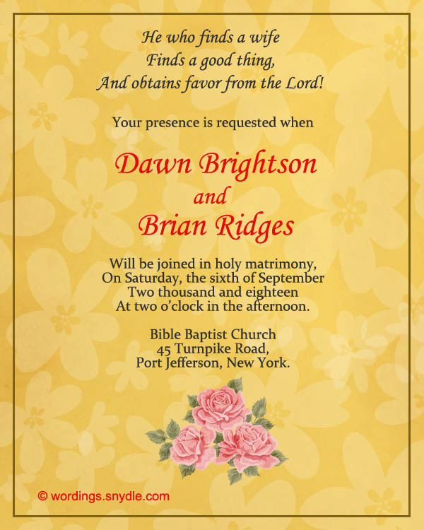 Marriage Invitation Quotes