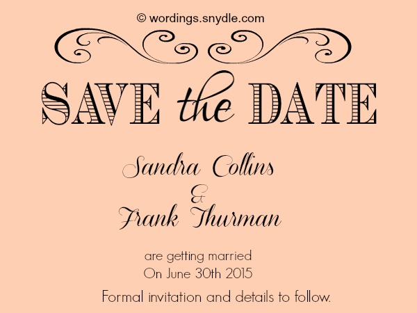 Save The Date Wording Wedding Examples Wedding Invitation Sample – Destination Wedding Save the Date Wording Examples