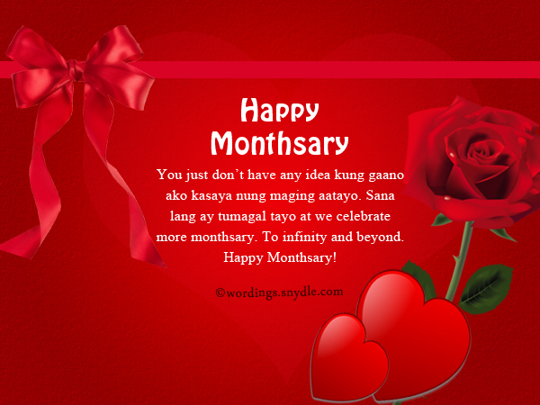 Happy Monthsary Message Tagalog