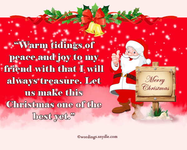 Merry christmas wishes messages to best friend christmaswalls merry christmas messages for facebook friends wordingessages m4hsunfo