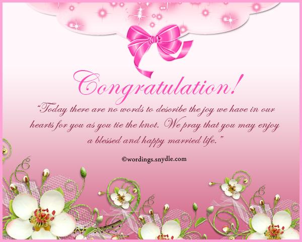 Wedding Congratulations Message 7