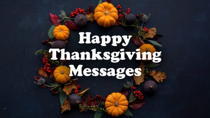 Thanksgiving Love Messages