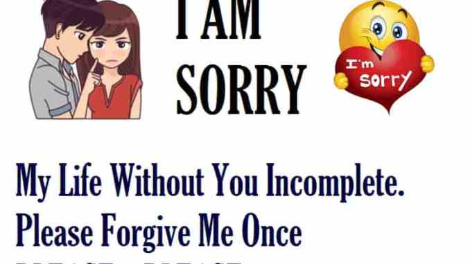 Sorry Messages for Girlfriends