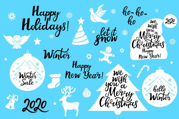 Christmas phrases for cards and notes