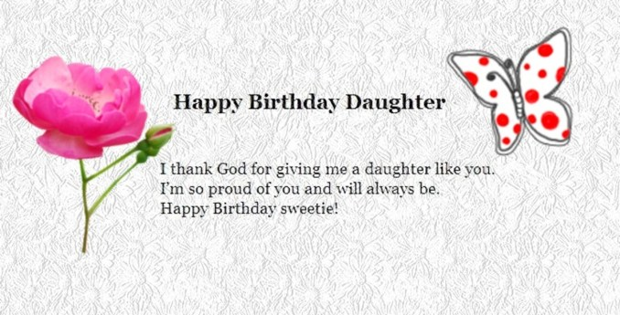 Funny and Exciting Happy Birthday Wishes for Daughter