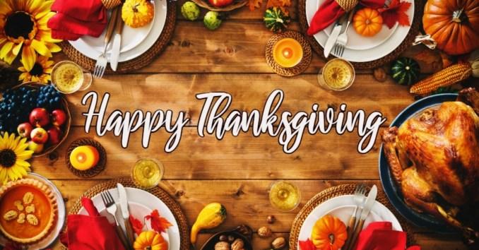 Happy thanksgiving phrases