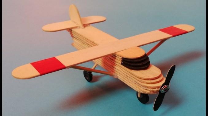 Ice-Cream Stick Fighter Plane Idea