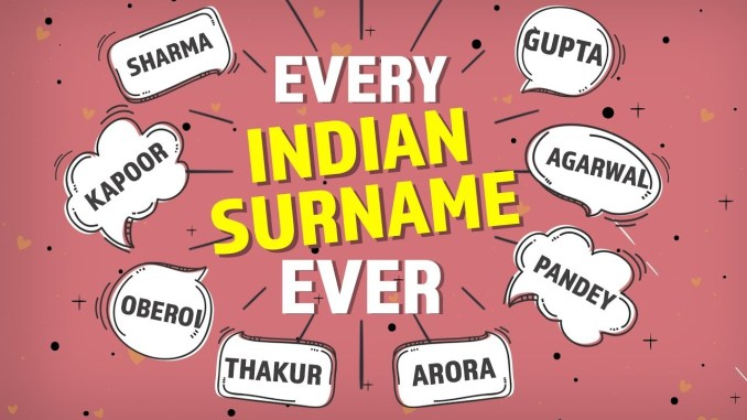 Great Indian Surnames