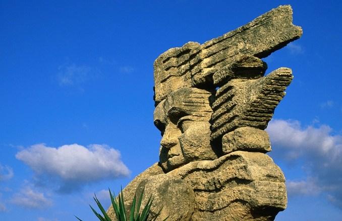 Stone Statue in Mexico