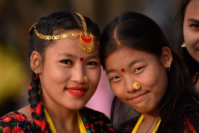 Hindu Girls in Traditional Attires