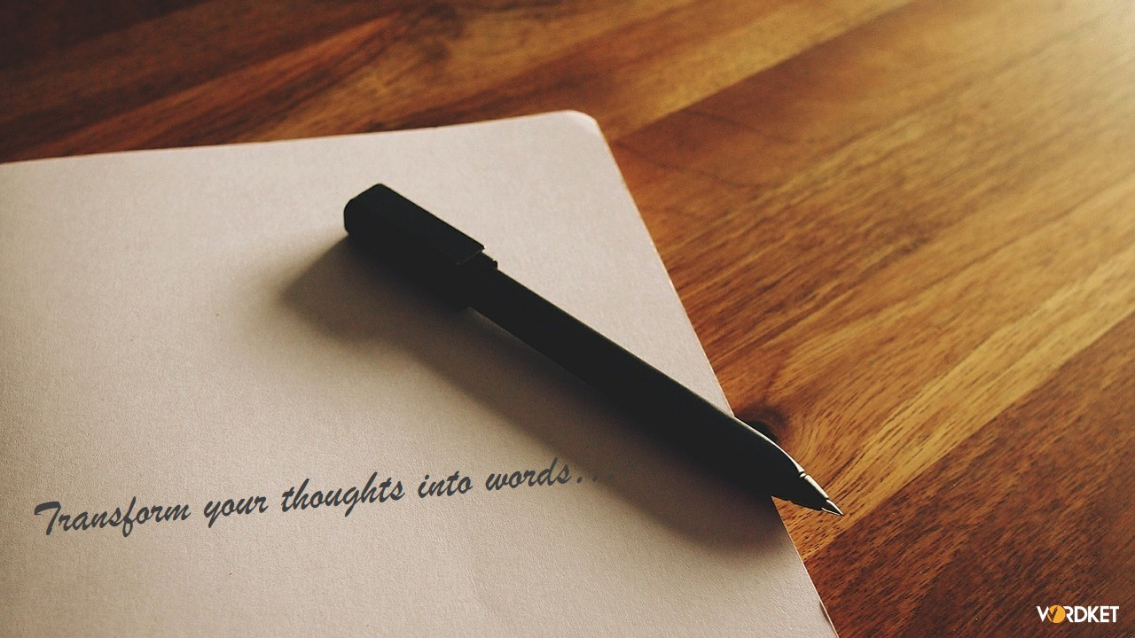 Transform your thoughts into words