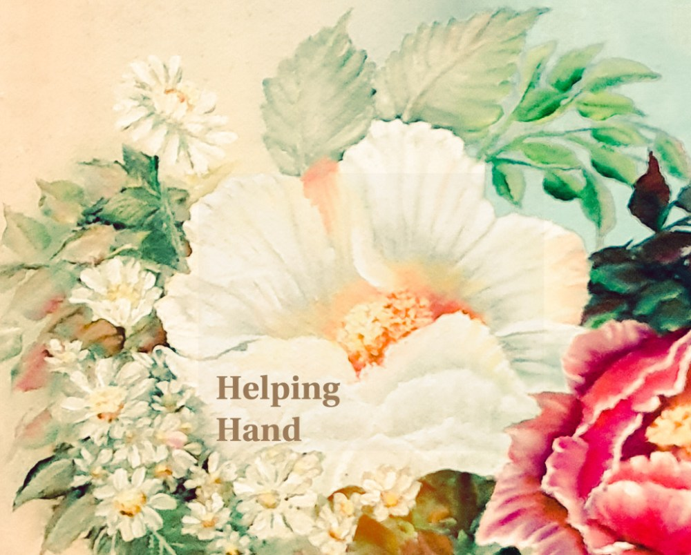 Painting by my Dear Mother, 'Anu' which I have decided to use as the logo for 'Helping Hand'