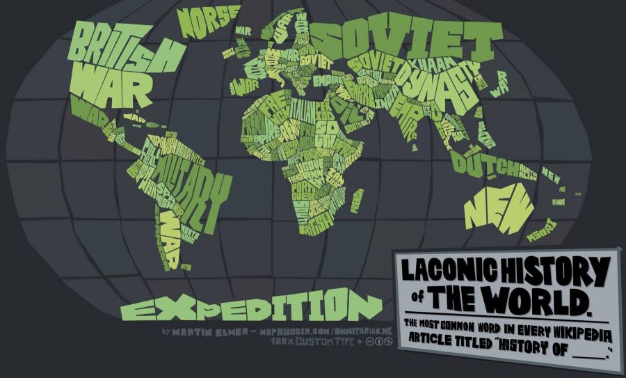 Laconic History of our World Map   wordlessTech Laconic History of our World Map