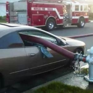 Why you should not park in front of a Fire Hydrant