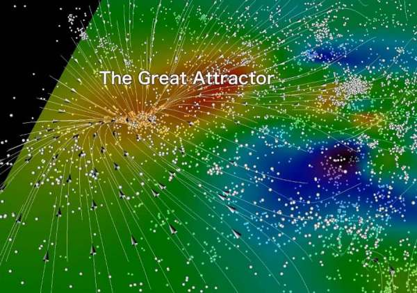wordlessTech | The Great Attractor on April's Night Sky