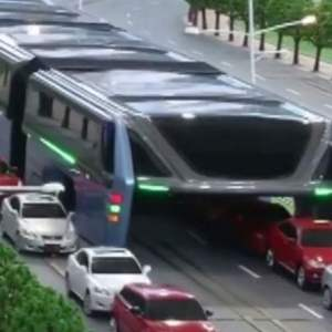 Elevated Bus that allows cars running underneath