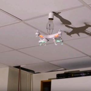 How to Replace a Light Bulb with a Drone