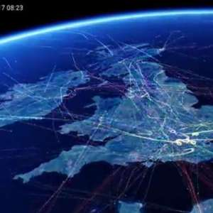 Britain's busiest Flight paths time-lapse