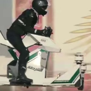 Dubai police are flying Hoverbikes