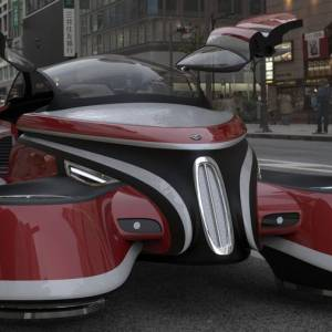 The Hover Coupe Flying car concept