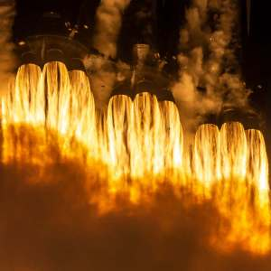 Twenty seven Merlin rocket engines
