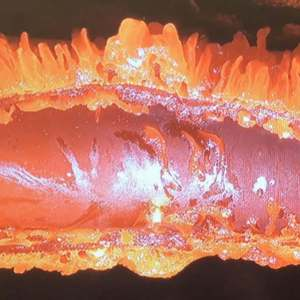 How a piece of a Satellite is Melted