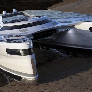 Lazzarini Pagurus amphibious catamaran