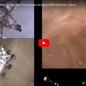 Perseverance Rover's Descent and Touchdown on Mars